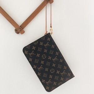 Authentic Louis Vuitton Neverfull GM Pouch Clutch